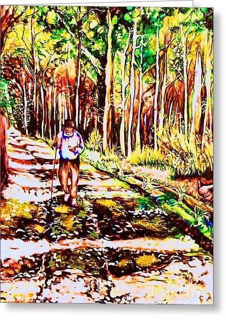 The Road Not Taken Greeting Card by Carole Spandau