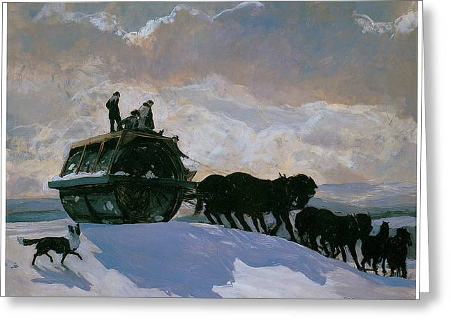 The Road Roller Greeting Card by Rockwell Kent