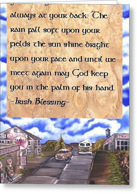 Gypsy Greeting Cards - The Road Greeting Card by The GYPSY And DEBBIE