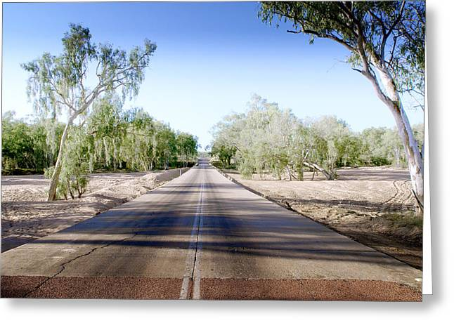Charters Greeting Cards - The Road to Back of Beyond Greeting Card by Holly Kempe
