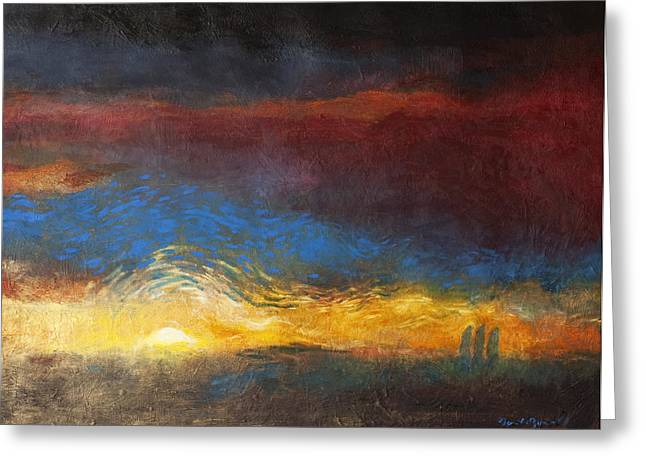 And Paintings Greeting Cards - The Road to Emmaus Greeting Card by Daniel Bonnell