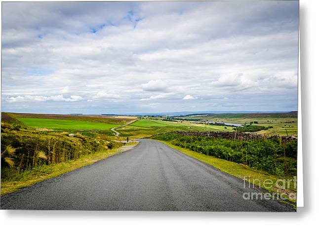 Mountain Road Greeting Cards - The Road to Masham Greeting Card by Phil Songa