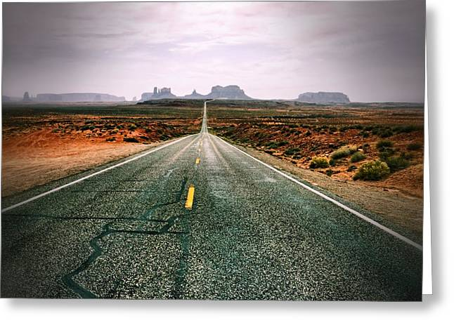 The Road To Monument Valley Greeting Card by Silvio Ligutti