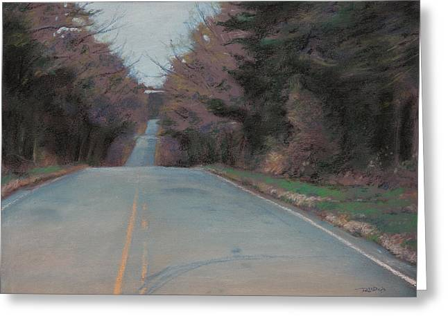 Rural Landscapes Pastels Greeting Cards - The Road To Nowhere Greeting Card by Christopher Reid