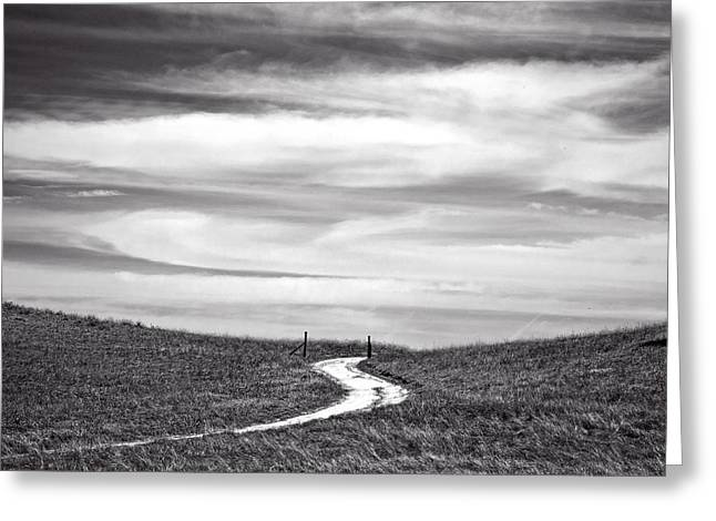 Big Sky Greeting Cards - The Road to Nowhere Greeting Card by Peter Tellone