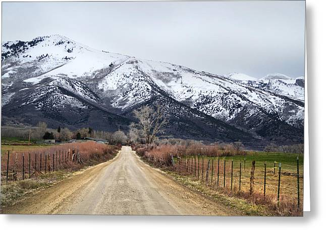 Meyers Creek Greeting Cards - The road to Soldier Creek Greeting Card by Karen  W Meyer