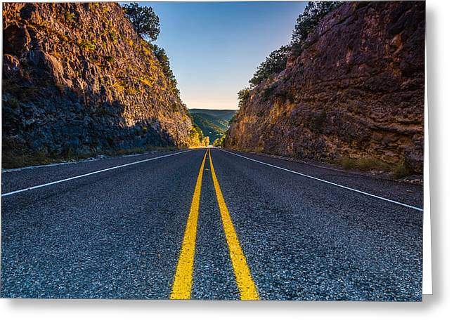 The Road To Utopia Greeting Card by Jeffrey W Spencer