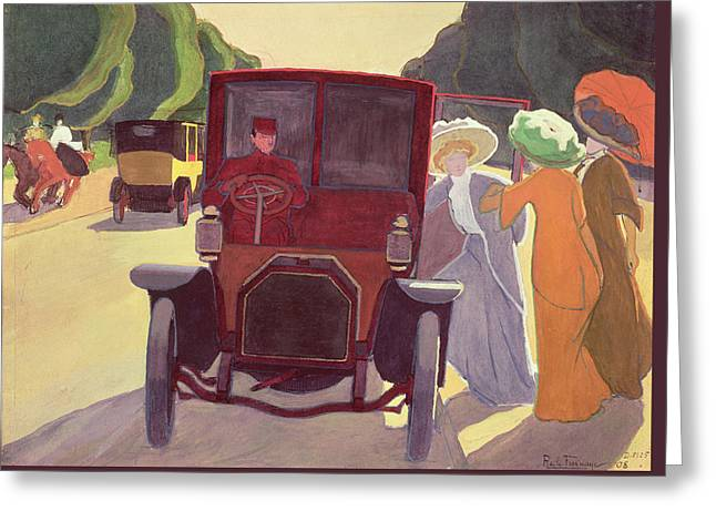 The Road With Acacias Greeting Card by Roger de La Fresnaye