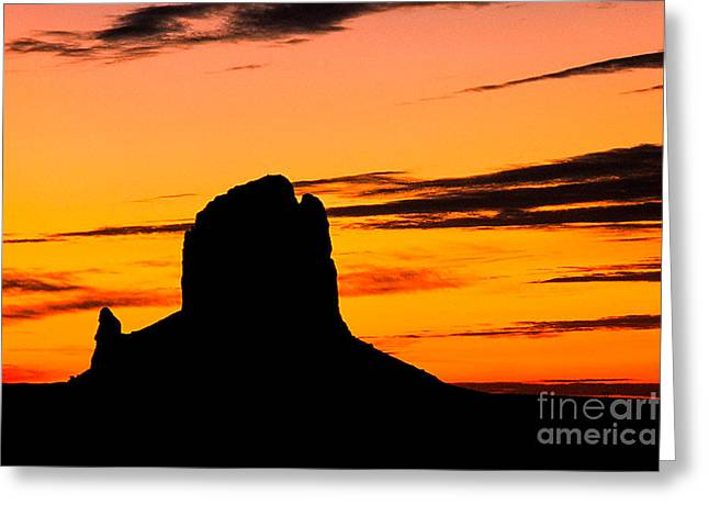 Kim Photographs Greeting Cards - The Rock at Dawn Greeting Card by Kim Lessel