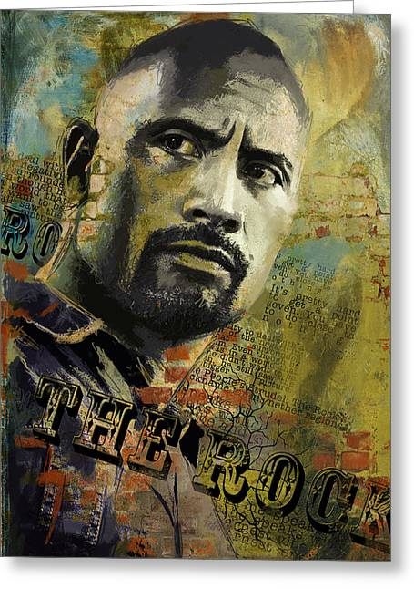 American Artist Greeting Cards - The Rock Greeting Card by Corporate Art Task Force