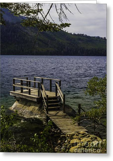 The Rock Dock Greeting Card by Mitch Shindelbower
