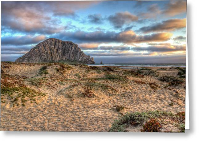 Morro Bay Greeting Cards - The Rock Greeting Card by Heidi Smith