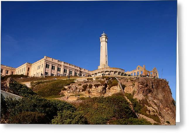Alcatraz Lighthouse Greeting Cards - The Rock Greeting Card by Joe Wicks