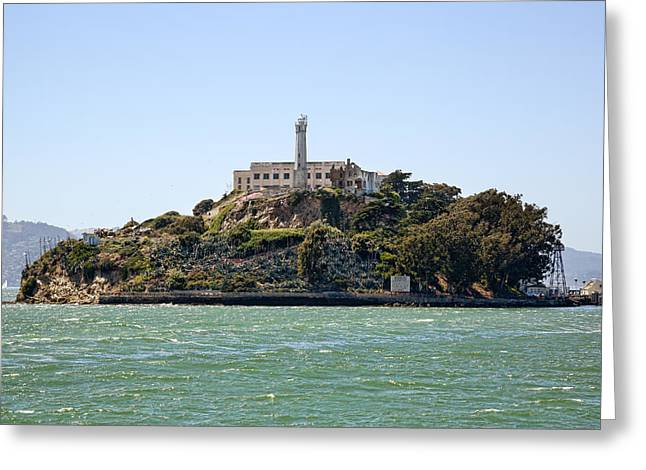 Alcatraz Greeting Cards - The Rock Greeting Card by Kelley King