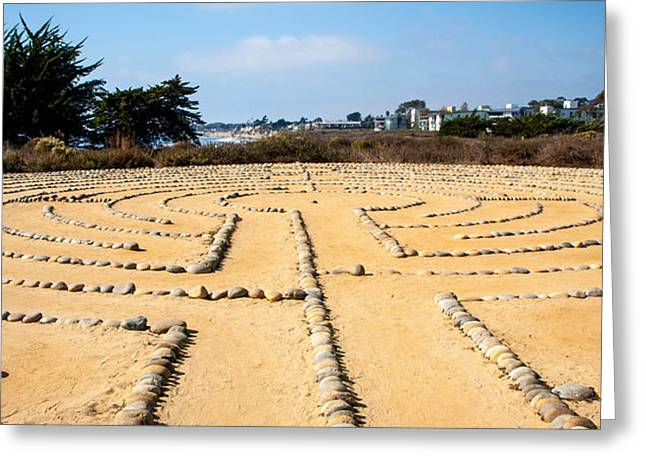 Picture Of Santa Barbara Greeting Cards - The Rock Maze Santa Barbara Greeting Card by Cathy Smith
