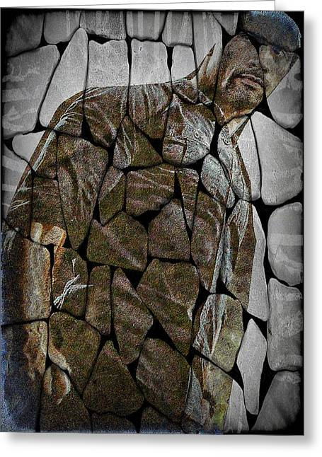 Digita Art Greeting Cards - The Rock  Greeting Card by M and L Creations