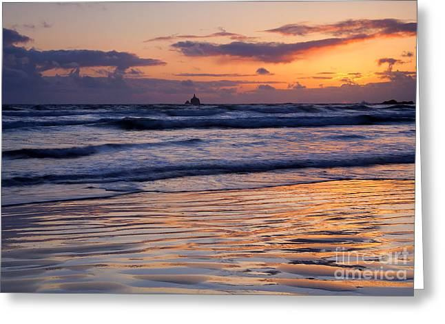 Ocean. Reflection Greeting Cards - The Rock Greeting Card by Mike  Dawson