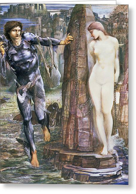 Andromeda Greeting Cards - The Rock Of Doom, C.1876 Greeting Card by Sir Edward Coley Burne-Jones