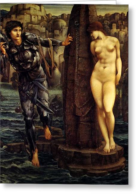 Historic Site Digital Greeting Cards - The Rock Of Doom Greeting Card by Edward Burne Jones