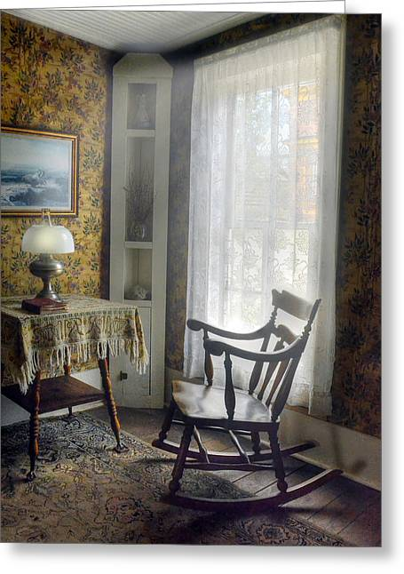 Rocking Chairs Greeting Cards - The Rocking Chair Greeting Card by Ken Smith