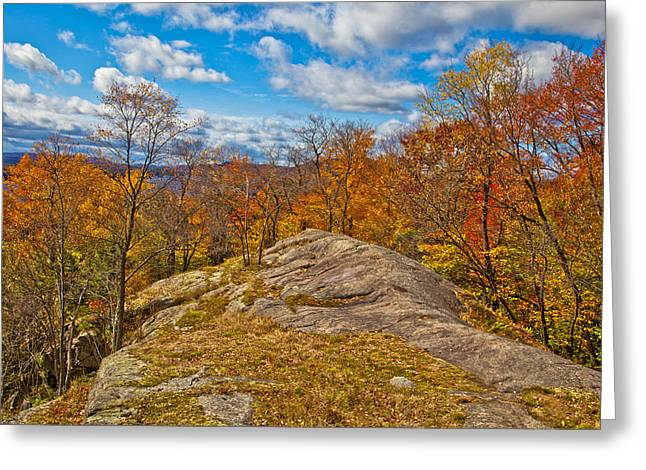 The Rocks Above Eagle Bay In The Adirondacks Greeting Card by David Patterson