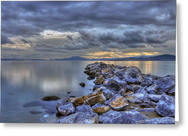 Sky Ceramics Greeting Cards - The rocks Greeting Card by George Leontaras