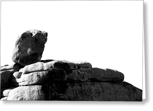 The Rocks Of Contrast Greeting Card by Carolina Liechtenstein