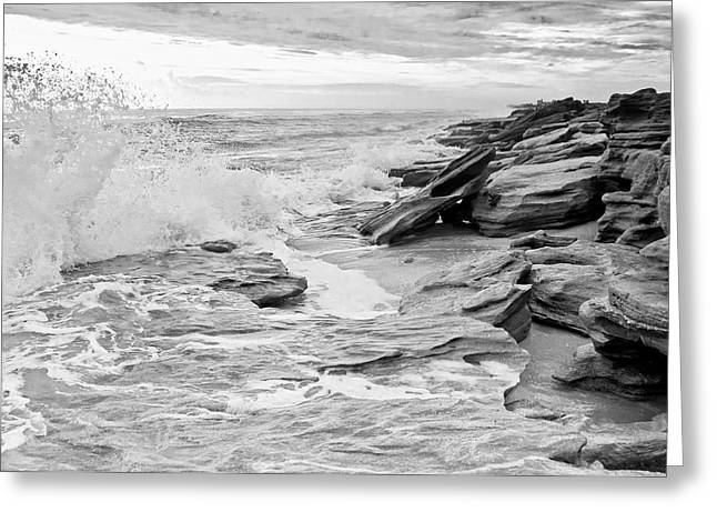 Flagler Greeting Cards - The Rocky Coast Greeting Card by Rich Leighton