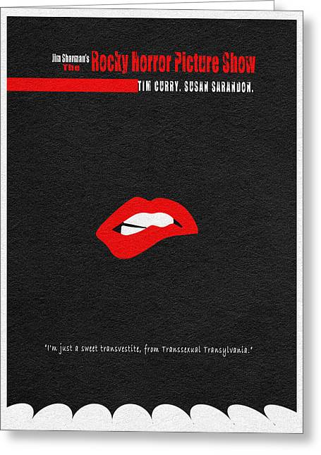 Lips Digital Greeting Cards - The Rocky Horror Picture Show Greeting Card by Ayse Deniz
