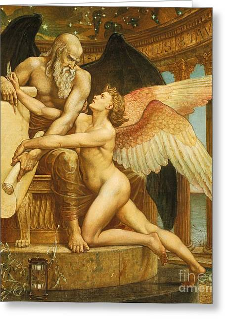Neo Greeting Cards - The Roll of Fate Greeting Card by Walter Crane