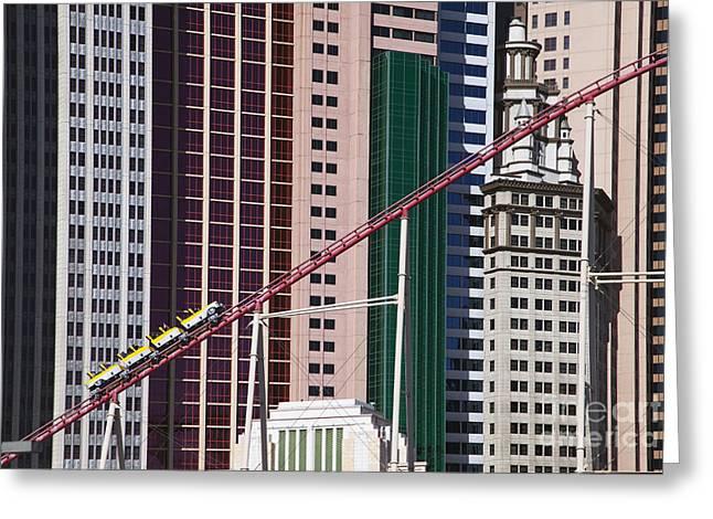 Tropicana Las Vegas Greeting Cards - The Roller Coaster Las Vegas Nevada Greeting Card by Patrick McGill