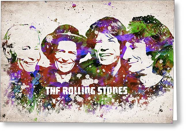 Rhythm Greeting Cards - The Rolling Stones Greeting Card by Aged Pixel