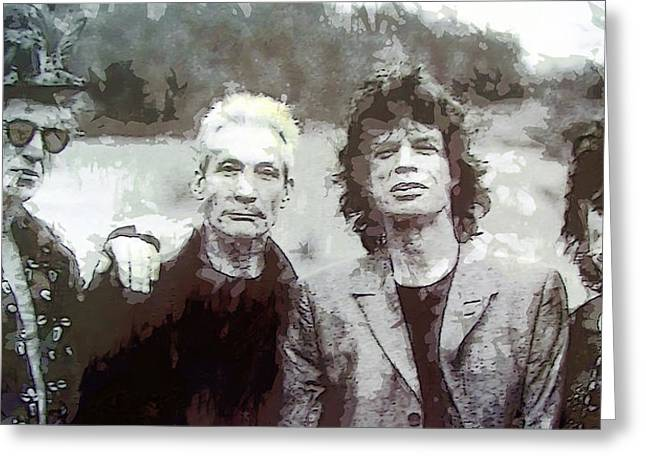 Jagger Greeting Cards - The Rolling Stones Greeting Card by Daniel Hagerman