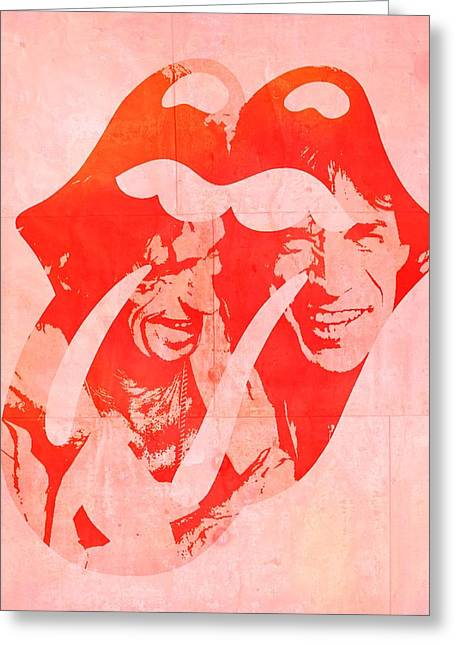 Paint It Greeting Cards - The Rolling Stones Mick And Keith Greeting Card by Dan Sproul