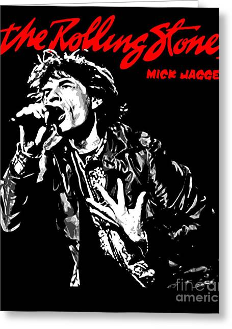 Rock N Roll Greeting Cards - The Rolling Stones No01 Greeting Card by Caio Caldas