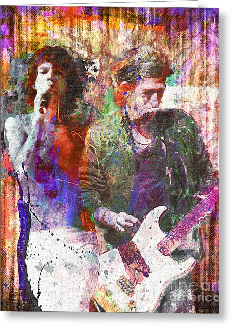 Rock Paintings Greeting Cards - The Rolling Stones Original Painting Print  Greeting Card by Ryan RockChromatic
