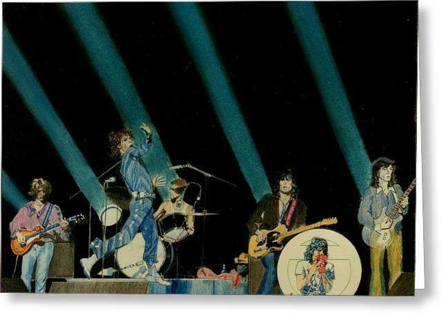 Rolling Stones Pastels Greeting Cards - The Rolling Stones - Rip This Joint Greeting Card by Sean Connolly