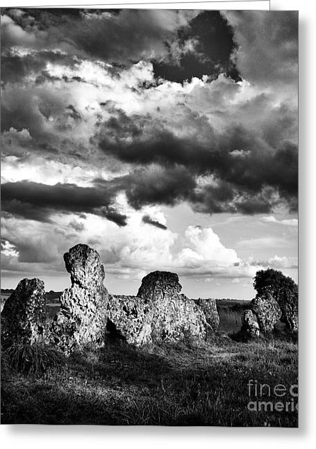 Bronze Age Greeting Cards - The Rollright Stones Greeting Card by Tim Gainey