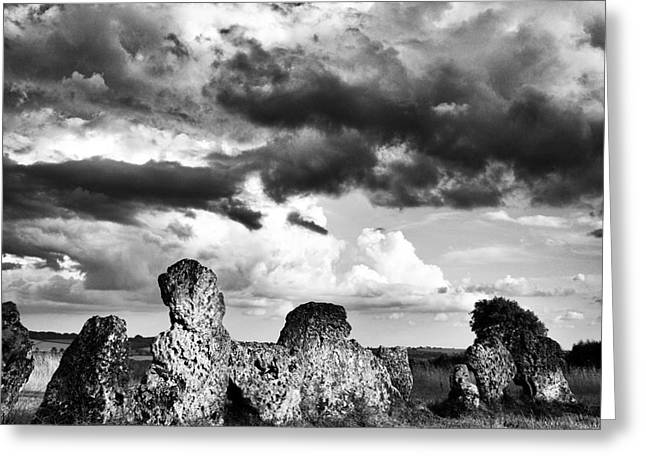 Standing Stones Greeting Cards - The Rollright Stones Greeting Card by Tim Gainey