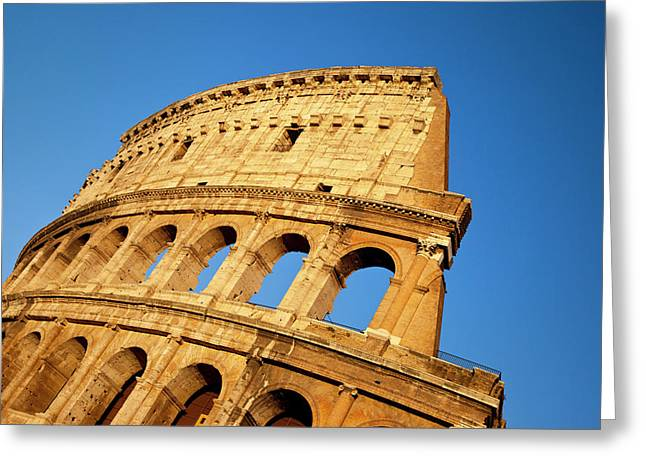 The Roman Coliseum At Sunset, Rome Greeting Card by Brian Jannsen