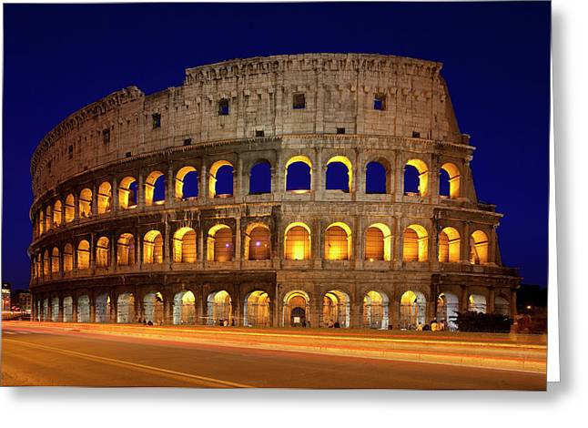 The Roman Coliseum At Twilight, Rome Greeting Card by Brian Jannsen