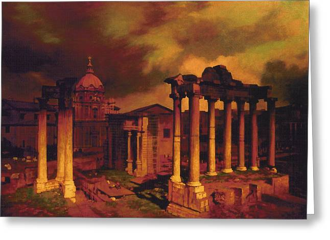 Blue Sky Greeting Cards - The Roman Forum Greeting Card by Blue Sky