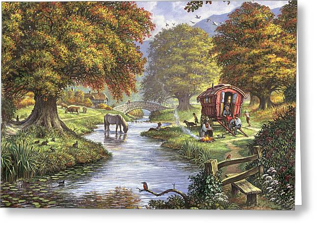Crisp Greeting Cards - The Romany Camp Greeting Card by Steve Crisp