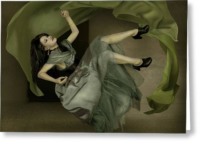 Floating Girl Greeting Cards - The Room Greeting Card by Ethiriel  Photography