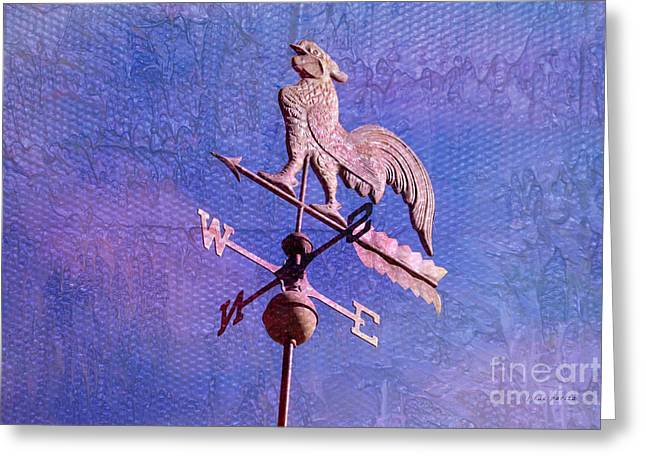 Weathervane Greeting Cards - The Rooster Weather Vane Greeting Card by Janice Rae Pariza