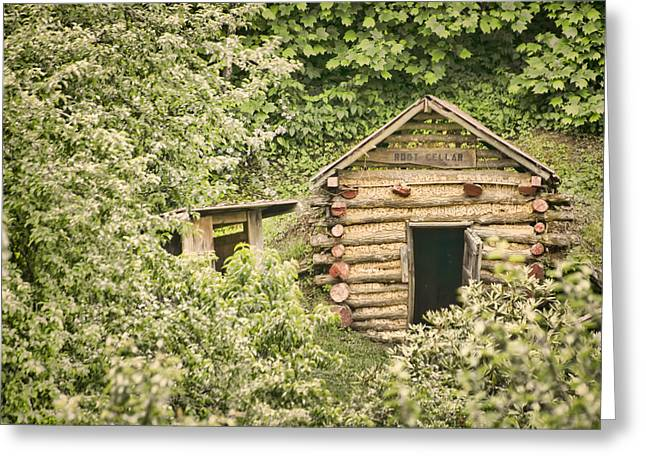 Cellar Greeting Cards - The Root Cellar Greeting Card by Heather Applegate