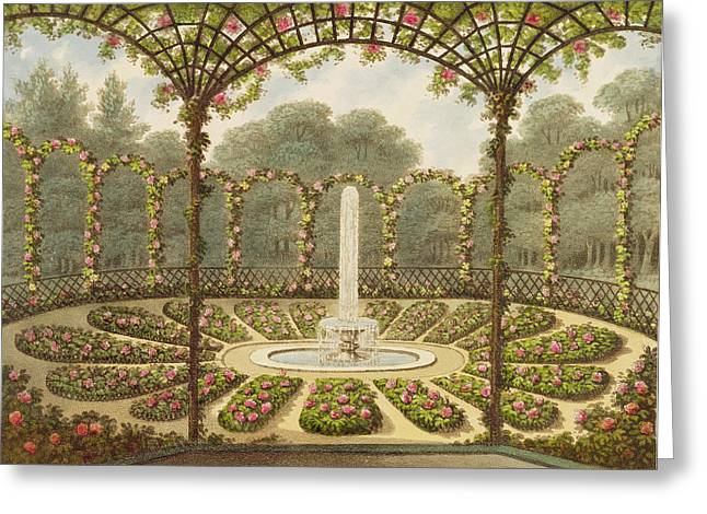 Trellis Drawings Greeting Cards - The Rosary at Ashridge Greeting Card by English School
