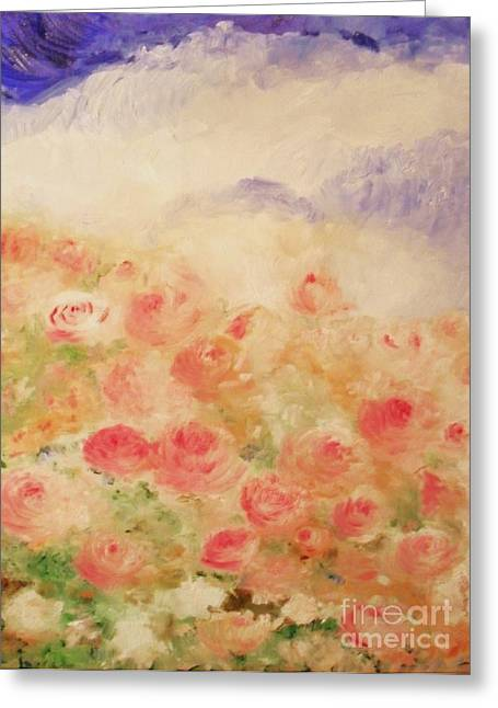 Recently Sold -  - Laurie D Lundquist Greeting Cards - The Rose Bush Greeting Card by Laurie D Lundquist