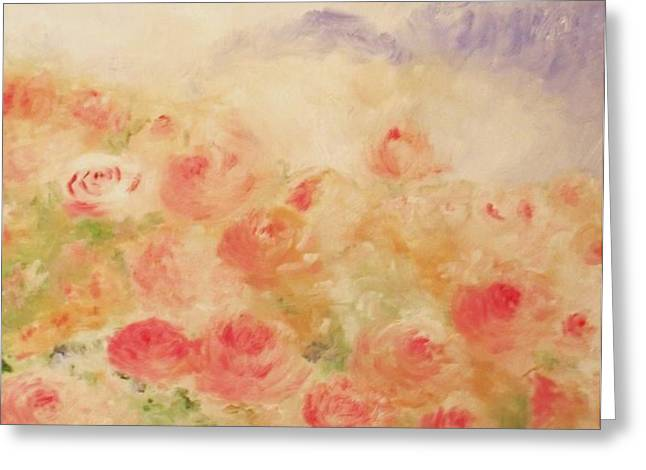 The Rose Bush Greeting Card by Laurie D Lundquist
