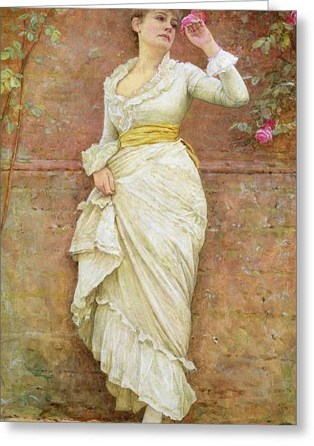 Rosebush Greeting Cards - The Rose Greeting Card by Edward Killingworth Johnson